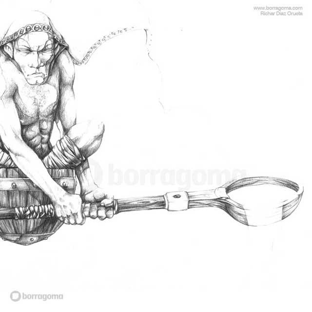 """IMG MITOLOGIKA Eate 3 """"Mitologika"""" Ilustración de Mitos y Leyendas Vascas Trabajos Realizados Mitos y Leyendas Mitologika Ilustración en Bilbao Ilustración"""