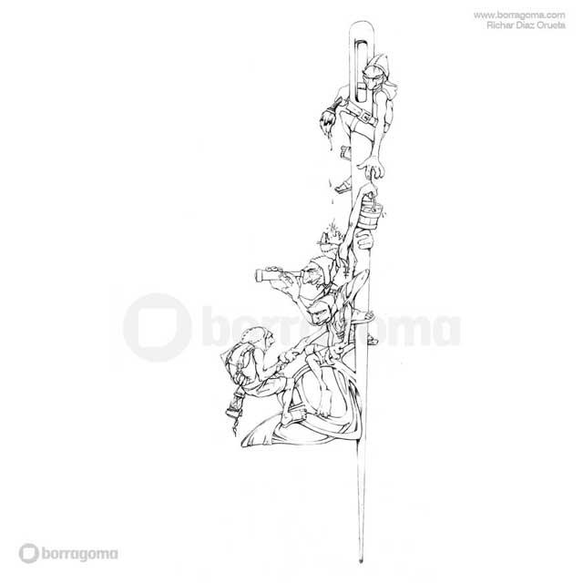 """IMG MITOLOGIKA Galtzagorri 1 """"Mitologika"""" Ilustración de Mitos y Leyendas Vascas Trabajos Realizados Mitos y Leyendas Mitologika Ilustración en Bilbao Ilustración"""