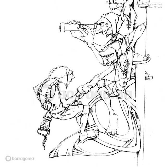"""IMG MITOLOGIKA Galtzagorri 2 """"Mitologika"""" Ilustración de Mitos y Leyendas Vascas Trabajos Realizados Mitos y Leyendas Mitologika Ilustración en Bilbao Ilustración"""